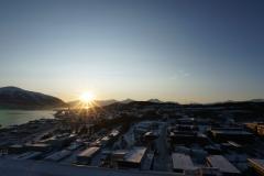 Utsikt-sør-solnedgang